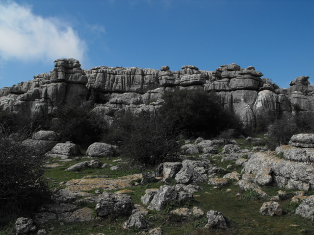 The spectacular rocks of El Torcal