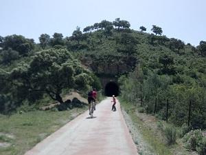Bike tour on the old railway tracks