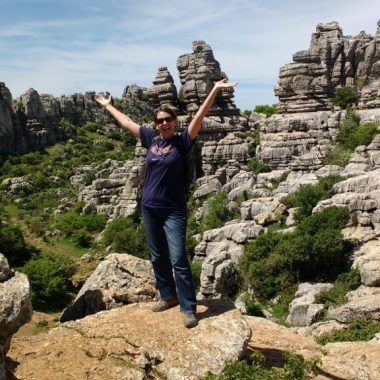 Hiking routes through rock formations